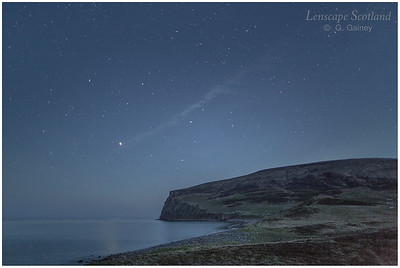 Rackwick Bay at night, with stars