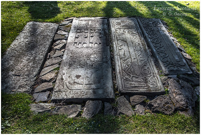 Kildalton church - carved mediaeval grave slabs