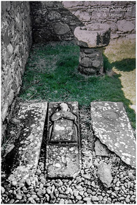 Kilchiaran Chapel - carved mediaeval grave slab (1998)