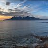 Rhum from Camas Sgiotaig on the Isle of Eigg, sunset