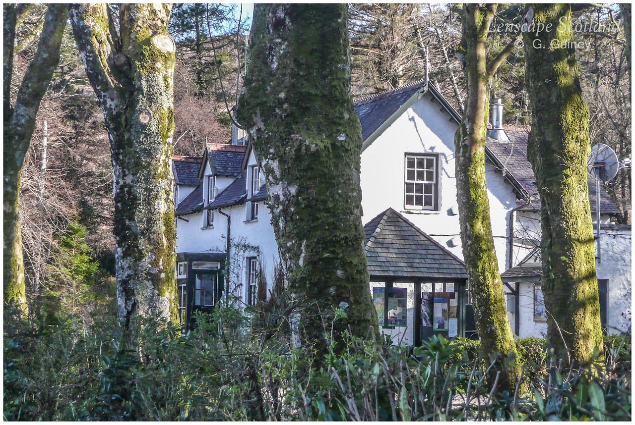 Kinloch - the 'White House' (nature reserve HQ)