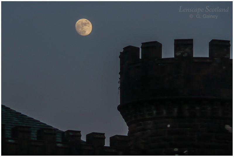 Kinloch Castle with full moon 2