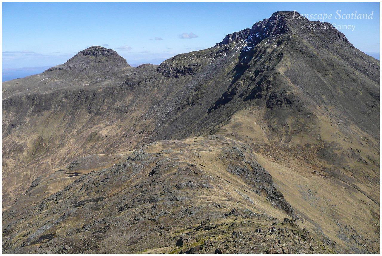 Hallival and Askival from Trollaval east ridge