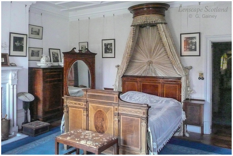 Kinloch Castle interior - Sir George's bedroom
