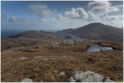 Loch Snigiscleit and Stulabhal from Beinn Ailein