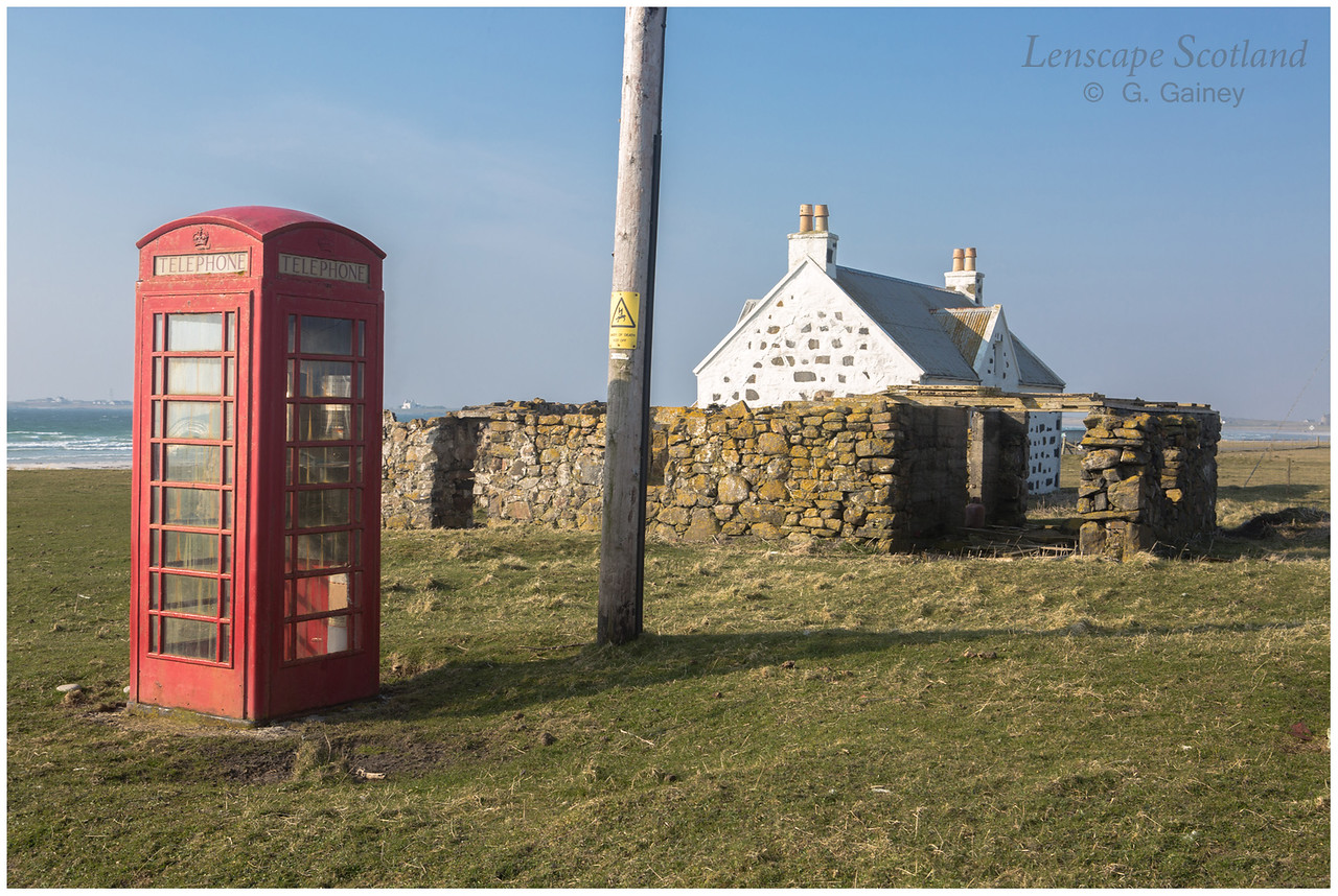 Red telephone box near Vaul road junction, Kirkapol