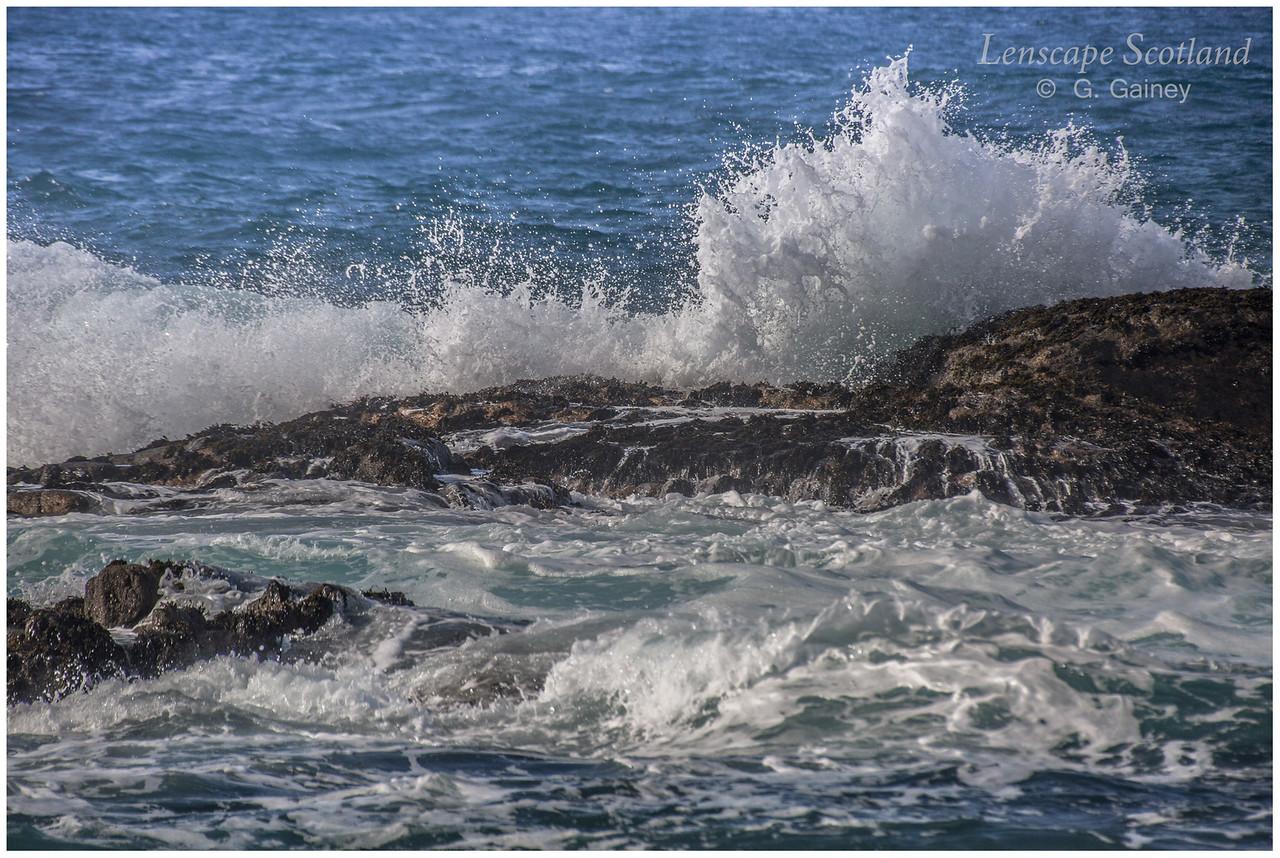 Waves and sea spume, Port Bharrapol, near Sandaig