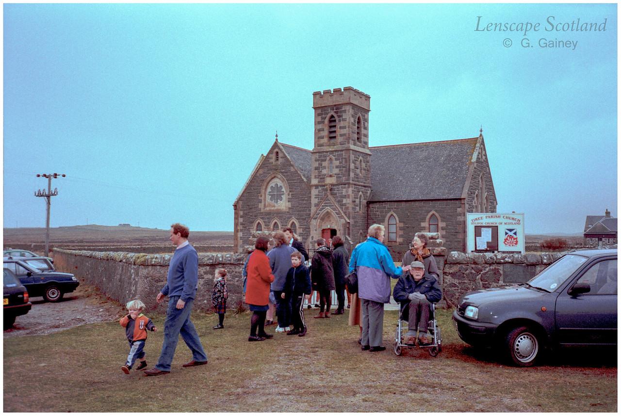 Tiree Parish Church, Heylipol, Easter 1999
