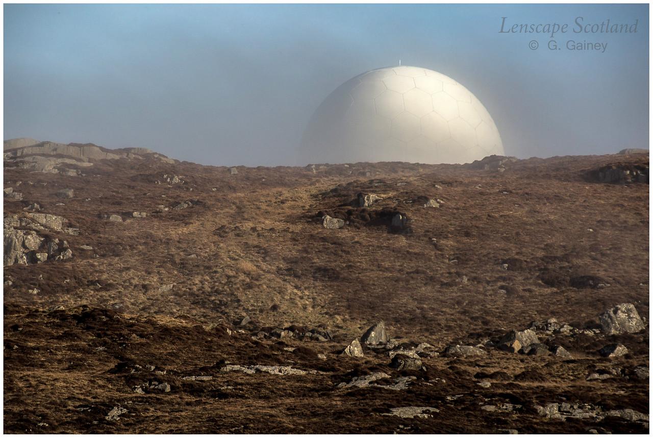 Radar half moon, Carnan Mor, Ben Hynish