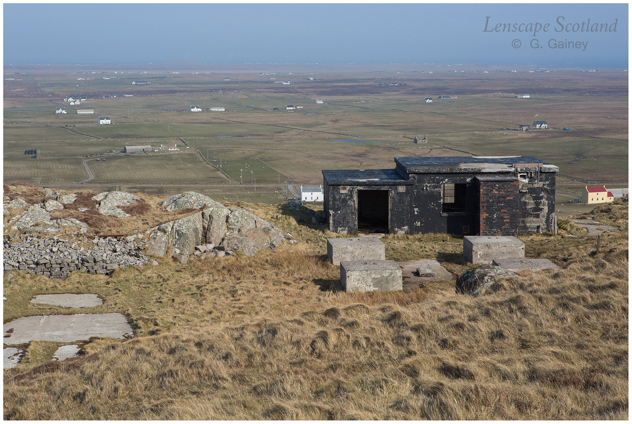 Derelict WW2 installation, Beinn Hough