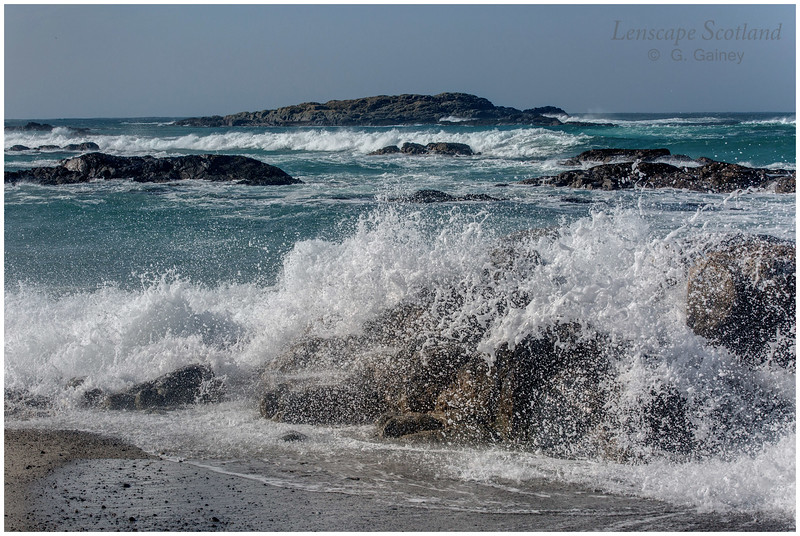 Atlantic waves, Traigh Thodhrasdail, Kilkenneth 2