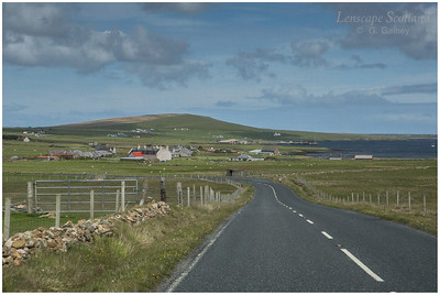 Baltasound from the south (Unst)