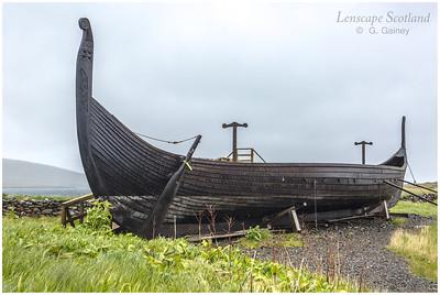 Reconstructed Viking longboat, Haroldswick (Unst)