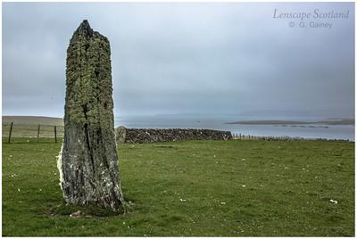 Standing stone, Clivocast, Uyeasound (Unst)