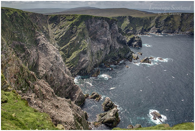 Cliffs and gannetry, Neap, Herma Ness (1) (Unst)