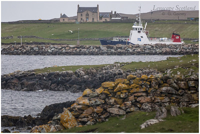 Belmont House and the Yell - Unst ferry