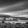 Freshwater Bay  Isle of Wight - monochrome long exposure.