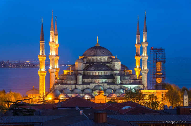 The Blue Mosque at the blue hour