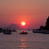 Coucher de soleil à Vulcano, Italie