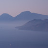 Vue des Iles éoliennes depuis Vulcano
