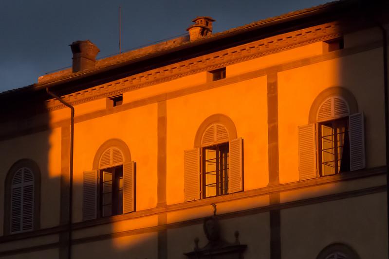 Coucher de soleil sur  la cathédrale de Sienne,  Italie