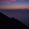 Le soleil se couche sur les pentes du Stromboli