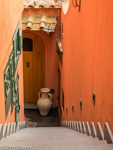 Jug and Stairs, Positano, Italy