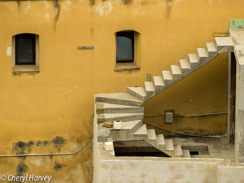 Stairs and Yellow Wall, Positano, Italy