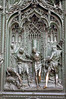 Persecution of Christ - one of the many biblical scenes designed into the brass door of the Milan Cathedral