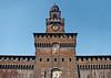 Castello Sforzesco (Sforza Castle) - Filaret Tower (15th century construction) - Milan