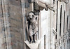 Statue and gargoyles along the walls of the Milan Cathedral