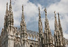 Statues atop the spires - atop the Milan Cathedral
