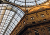 Galleria Vittorio Emanuele II - where the glass-vaulted roof meets the glass dome - Milan