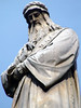 """Leonado da Vinci - at his monument in the Piazza della Scalla (square of the scale) in Milan - he lived from 1452-1519 - he was an Renaissance Man or """"polymath"""" (painter, sculptor, scientist, mathematician, botanist, and geologist) - a man of """"unquenchable curiosity"""" and """"continuous inventive imagination"""" - he is widely considered to be one of the greatest painters of all time and perhaps the most diversely talented person ever to have graced Planet Earth."""