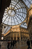 Galleria Vittorio Emanuele II - the confluence of 3 of the 4 glass-vaulted arcade roofs, with the glass dome - Milan