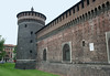 Torre d' Carmini - the southern tower along the fortress wall of the Castello Sforzesco (Sforza Castle) - Milan