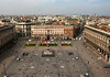 Down to the Vittorio Emanuele II Monument - in the Piazza del Duomo (Cathedral Square) - from atop the Milan Cathedral
