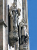 Statue of Moses, holding the stone table of the 10 Commandments - along the wall of the Milan Cathedral