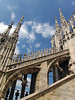 Up the flying buttress, spires and statues - Milan Cathedral