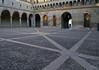 River stone courtyard at the La Rocchetta - Castello Sforzesco (Sforza Castle) - Milan