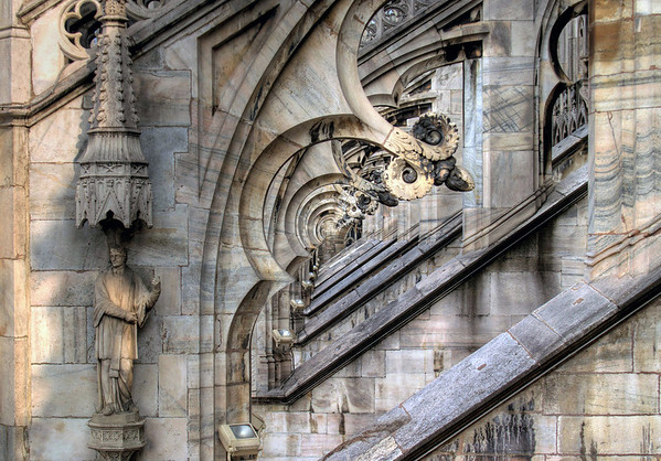Through the flying buttresses - Milan Cathedral