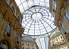 Galleria Vittorio Emanuele II - the central glass and cast-iron dome, rising to 154 ft. (47 m) - Milan