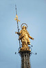 Madonnina - the gilded copper statue of the Virgin Mary, was erected in 1762 atop the Milan Cathedral