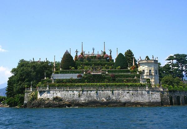 Italianate garden on the southern end of Isola Bella - one of the Borromean islands in Lake Maggiore