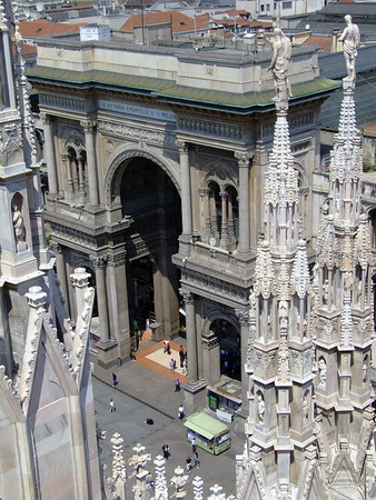 From the statues atop the spires of the Milan Cathedral - to the southern arched portal of the Galleria Vittorio Emanuele ll - Milan