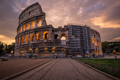 Sunrise at the Colosseum