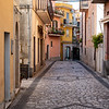 Cobblestone street in Castelmola