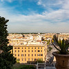 City views from windows in the Bramante Staircase