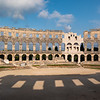 The only Roman amphitheatre with a complete circle wall