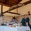 Maria making mozzarella cheese